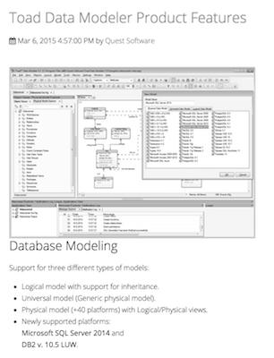 Toad Data Modeler