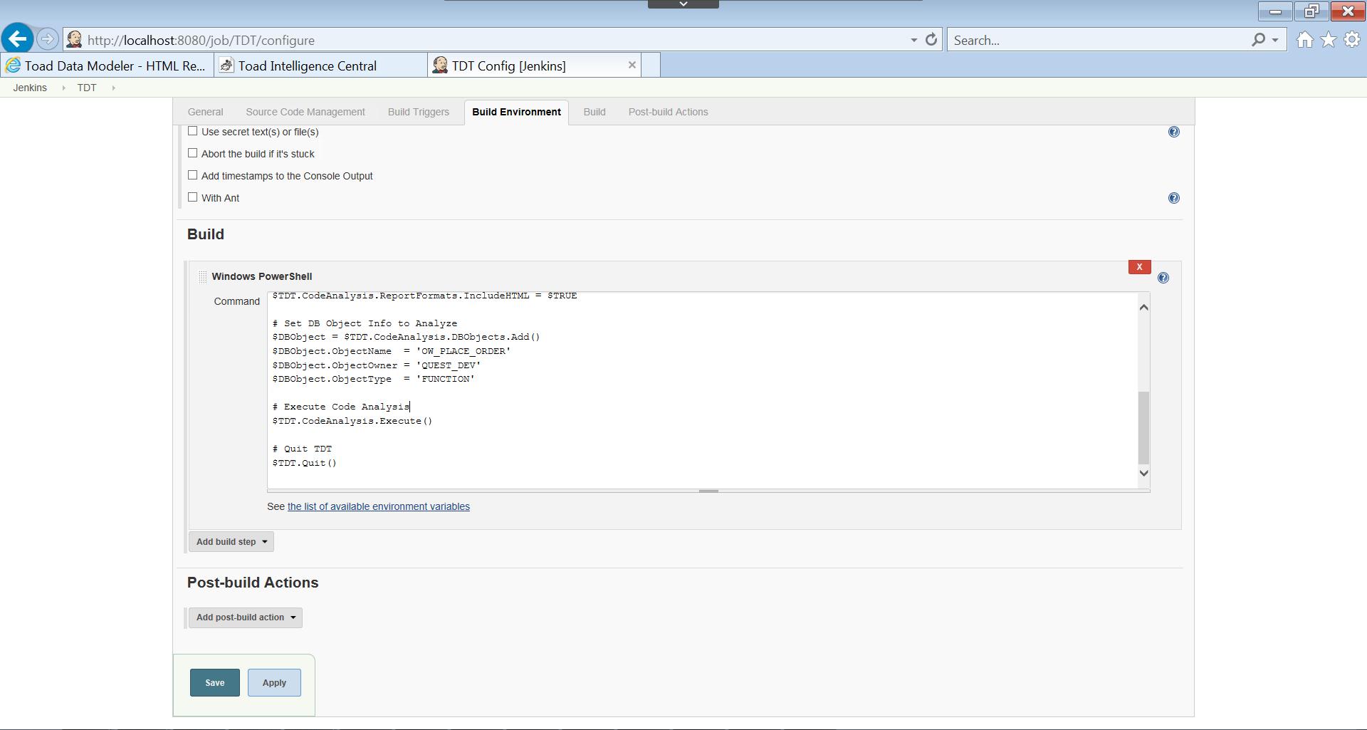 ToadDevopsToolkit_integration