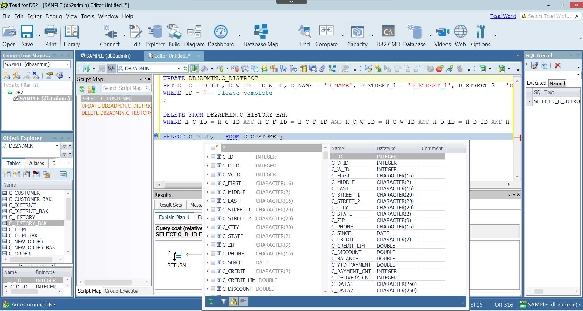 Toad for IBM DB2